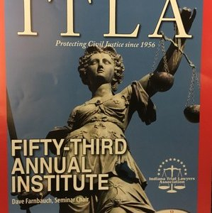 Sach Oliver, Guest Speaker for the 53rd Annual Institute, Indiana Trial Lawyers Association